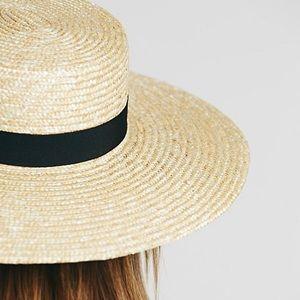 Accessories - Wide Brim Boater HAT Straw Woven Summer Beach NEW